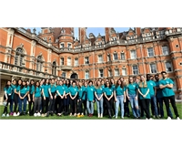 A selection of academic reps stood in Founder's quad.