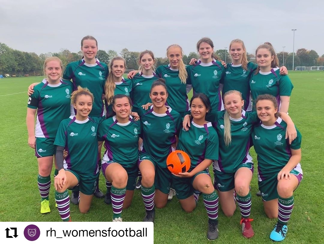 photo of the Women's Football first team following their 6-0 win over UCL's second team